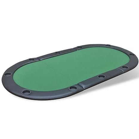 vidaXL Table de poker pliable pour 10 joueurs Vert Table de jeux pliante Table à jeux