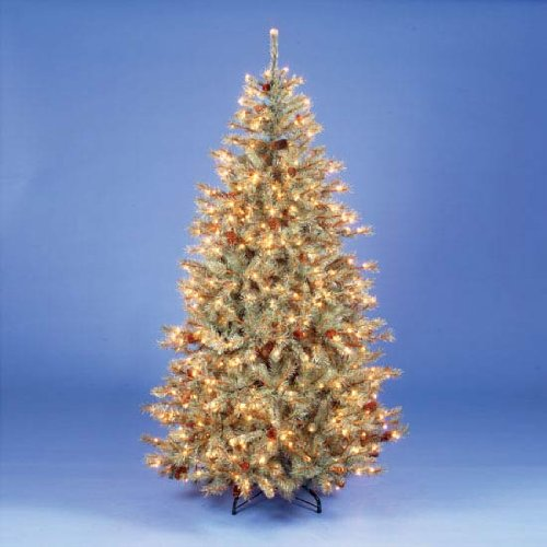 7ft/210cm Kintyre Spruce Blue Pre-Lit Fairy Light Christmas Tree