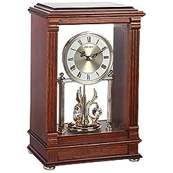Seiko Mantel Pendulum Clock Dark Brown Wooden Case