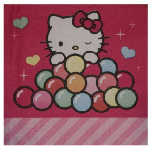 Hello Kitty Sweet Beverage Napkins (16 Count) by Designware