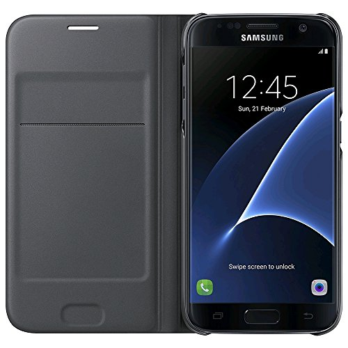 Samsung Flip Wallet Etui pour Samsung Galaxy S7 Noir