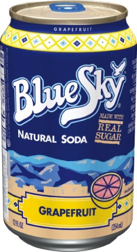 Blue Sky Grapefruit,  12-Ounce Cans (Pack of 24) by Blue Sky