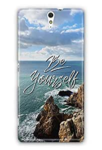 YuBingo Be Yourself Designer Mobile Case Back Cover for Sony Xperia C5 Ultra