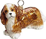 CAVALIER KING CHARLES BLENHEIM Dog Glass Ornament Joy To The World NEW Picture