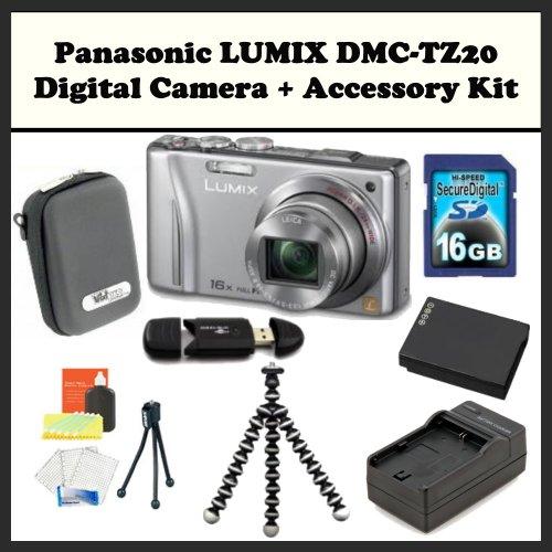Panasonic LUMIX DMC-TZ20 Digital Camera (Silver)