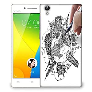 Snoogg hand drawing the dream travel around the world Designer Protective Back Case Cover For VIVO Y51 L