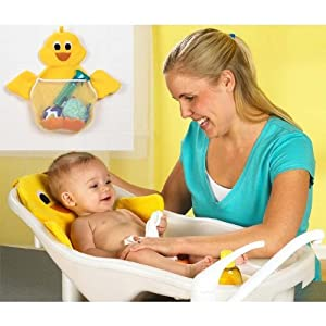 PRI Ducky Bath and Toy Bag (White bath with yellow cushion)