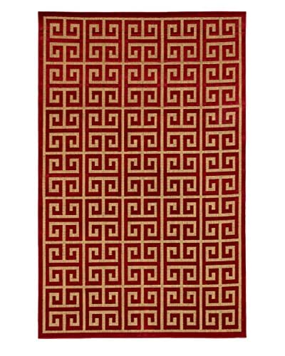 Socrates Rug, Light Brown/Red, 5' x 7' 6