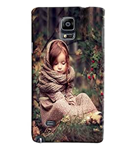 Blue Throat Girl In Winter Printed Designer Back Cover/ Case For Samsung Galaxy Note Edge