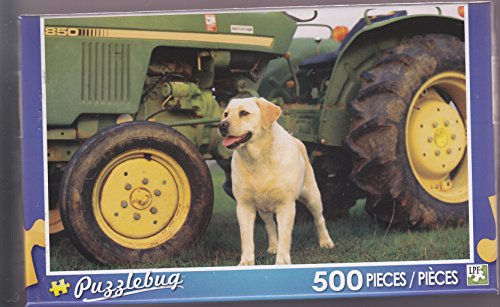 Puzzlebug 500 ~ Yellow Lab at the Farm