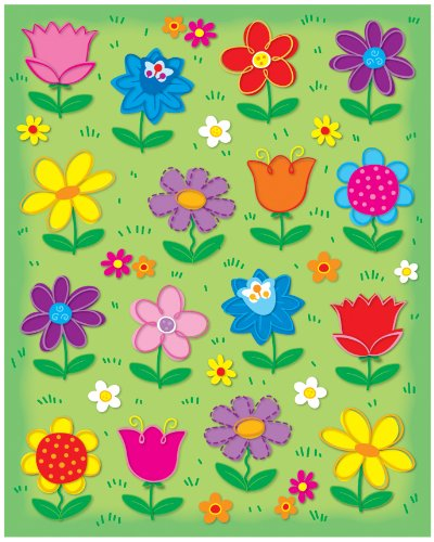 Carson Dellosa Flowers Shape Stickers (168038)