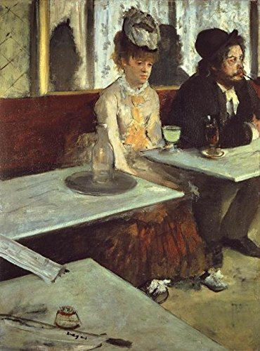 'Edgar Degas-The Absinthe Drinker,1875-1876' Oil Painting, 10x14 Inch / 25x34 Cm ,printed On High Quality Polyster Canvas ,this Amazing Art Decorative Prints On Canvas Is Perfectly Suitalbe For Wall Art Decoration And Home Artwork And Gifts