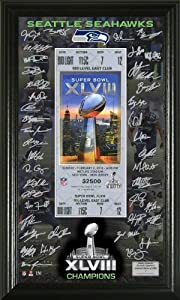 Seattle Seahawks Super Bowl 48 Signature Ticket by Highland Mint