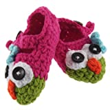 1 Pair Baby Toddler Girl Boy Crochet Knit Owl First Walker Shoe Sandals