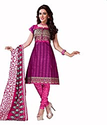 Neerja creation womens cotton Unstiched Dress material(K-1005_Pink)