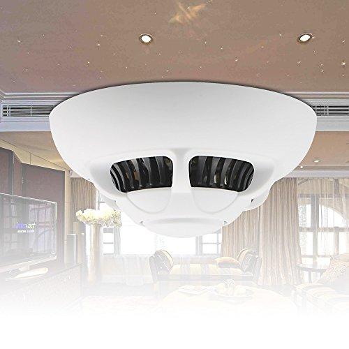 Aisoul Wi-Fi Camera Smoke Detector Motion Sensor Alarm APP Remote View HD  1080p Micro SD card Recording (UFO Shape)