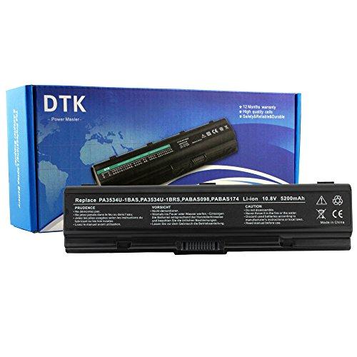 (DTK) ® neue Hochleistungs Laptop-Akku Ersatz für TOSHIBA PA3534U - 1BRS PA3533U 1BRS 3535-1BAS-PA SERIES EQUIUM Satellite A200 A205 A210 A215 A300 A305, A350, A355 A500 A505, L200, L201, L202, L203, L205 L300 L350 L450, L455/L305 L500 L505 L550 L555 M200 M205 M202 M203 M206 M207 M208 M209 M211 M212 M215 M216 P300 Satellite Pro notebook-Akku (10,8 V, 6 Zellen, 4400MAH), 12 Monate Garantie