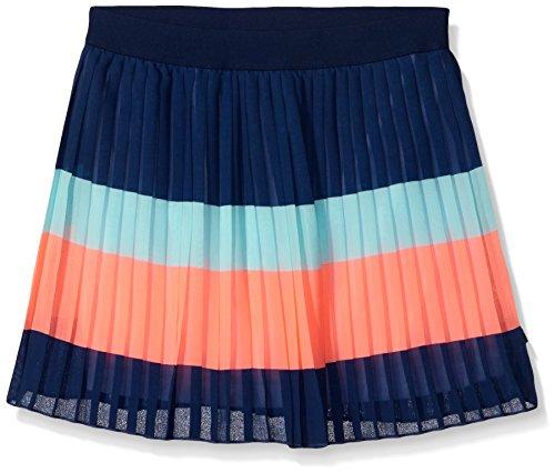 Tommy Girl Big Girls' Striped Pleated Chiffon Skirt, Flag Blue, 7