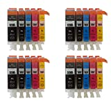 20 XL ( 4 Sets) ColourDirect Compatible Ink Cartridges Replacement For Canon CLI-551XL/ PGI-550XL - Pixma MG5450 MG5550 MG5650 MG6350 MG6450 MG6650 MX725 MX925 MX725 MG7150 iP7250 Printers