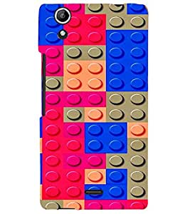 PRINTVISA Abstract Colourful Pattern Case Cover for Micromax Canvas Selfie 2 Q340