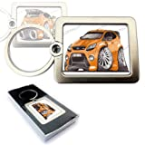 FORD FOCUS RS ORANGE Hatchback Sports Car Koolart Quality Solid Metal Keyring With Gift Box