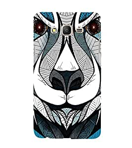Lion Tiger Face Clipart Sketch 3D Hard Polycarbonate Designer Back Case Cover for Samsung Galaxy On7 G600FY :: Samsung Galaxy On 7 (2015)