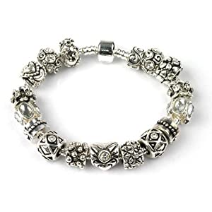 bling rocks sparkly silver charm pandora