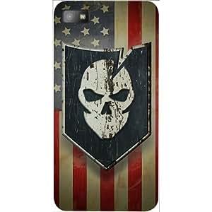 Casotec Skull Flag Design 3D Hard Back Case Cover for Blackberry Z10