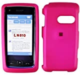Hot Pink Rubber Feel Snap-On Cover Hard Case Cell Phone Protector for LG Ln ....