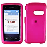 Hot Pink Rubber Feel Snap-On Cover Hard Case Cell Phone Protector for LG Ln510 Rumor Touch ~ AccessoryOne