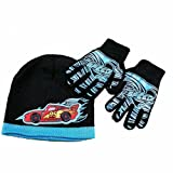 Disney Pixar Cars Lightning Speed Boy's Ages 4-7 Hat & Gloves Set