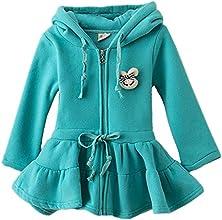 LittleSpring Little Girls39 Dresses Coat Hooded