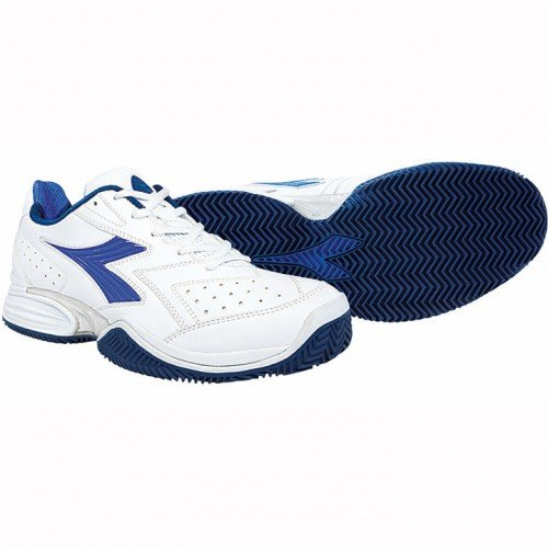 Diadora Herren Tennisschuhe Speed Shot Clay weiß/blau