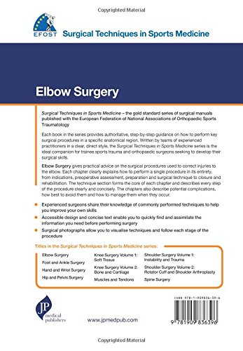 EFOST Surgical Techniques in Sports Medicine - Elbow Surgery