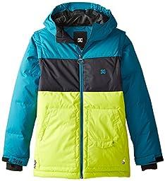 DC Big Boys\' Downhill Boy Snow Jacket, Harbor Blue, 12/Medium