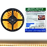 HitLights Luma5 Series (SMD 3528) Weatherproof Warm White LED Light Strip, 300 LEDs, 5 Meters (16.4 Feet) Spool, 12VDC Input (Adapter not included)