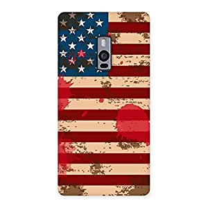 Stylish Grunge USA Flag Multicolor Back Case Cover for OnePlus Two