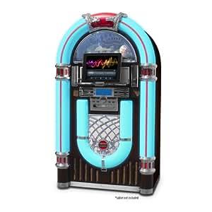 Electrohome Kinsman Jukebox with CD Player, FM Radio, USB & SD Playback and MP3 Input - EAJUK500