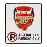 アーセナル Arsenal FC オフィシャル「サポーター以外は駐車禁止」サイン 看板 イギリスサッカー 英国フットボールクラブ (ワンサイズ) (ホワイト)