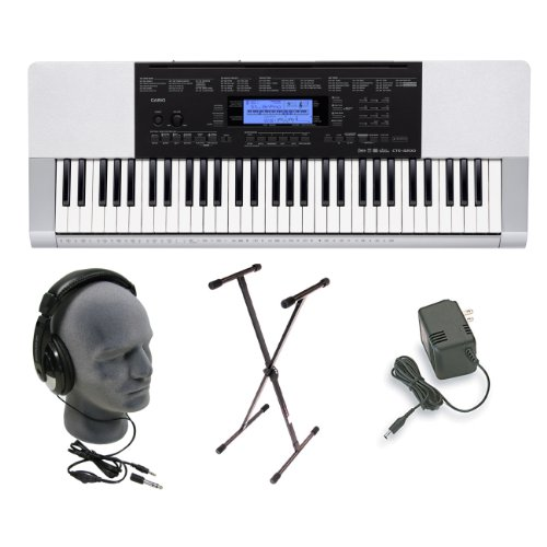 Casio CTK-4200 Premium Keyboard Pack with Headphones, Power Supply, and Stand