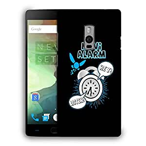 Snoogg Navi Alarm Designer Protective Back Case Cover For ONEPLUS TWO