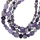 """Carolyn Pollack Sterling Silver Passionate Purple Triple-Strand 18"""" Necklace ~ Carolyn Pollack"""