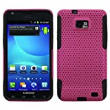 Asmyna ASAMI777HPCAST005NP Astronoot Premium Hybrid Case with Durable Hard Plastic Faceplate for Samsung Galaxy S II/SGH-i777 - 1 Pack - Retail Packaging - Hot Pink/Black