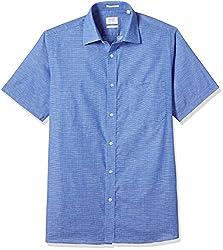 Arrow Men's Formal Shirt (8907378507075_ASSF0087_40_Medium Blue)