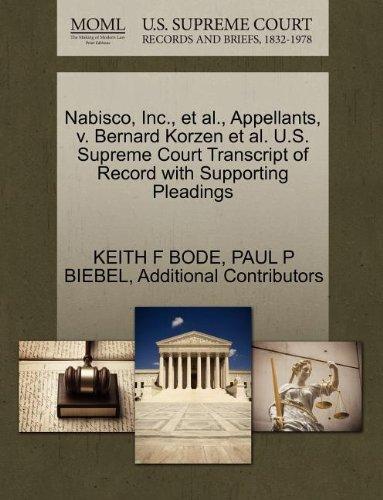 nabisco-inc-et-al-appellants-v-bernard-korzen-et-al-us-supreme-court-transcript-of-record-with-suppo