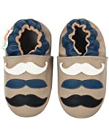 Momo Baby Infant/Toddler Mustache Soft Sole Leather Shoes