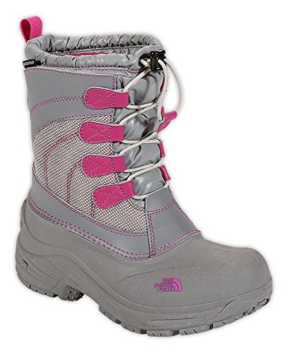 The North Face Children's Alpenglow Lace Boot,Moonlight Ivory/Luminous Pink,US 5