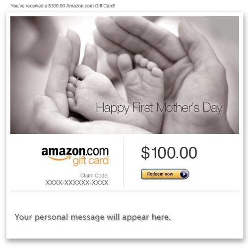 Amazon Gift Card - E-Mail - Happy First Mother'S Day front-629760