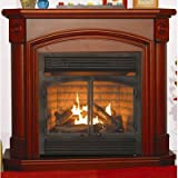 Kozy World GFD4360 The Montclaire Dual Fuel 4-in-1 Gas Fireplace