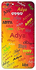 Adya (Popular Girl Name) Name & Sign Printed All over customize & Personalized!! Protective back cover for your Smart Phone : Samsung Galaxy Note-4